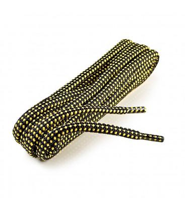 Lacets auto-serrants noir/jaune 150 cm
