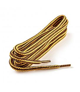 Lacets rond brun/jaune 120 cm
