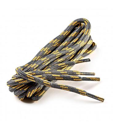 Lacets trecking gris/jaune 120 cm