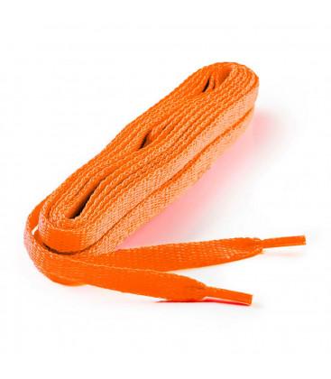Lacets plats orange 150 cm