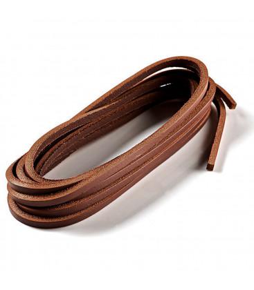 Lacets cuirs marron 110 cm