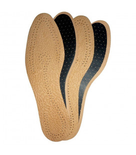 Leather and activated carbon insoles in packs of 2 pairs
